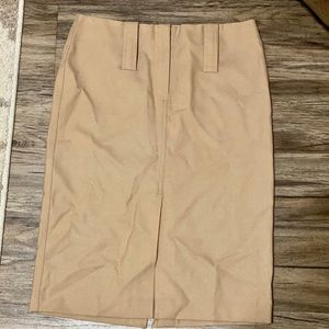 Beige Express pencil skirt w/slits & belt loops